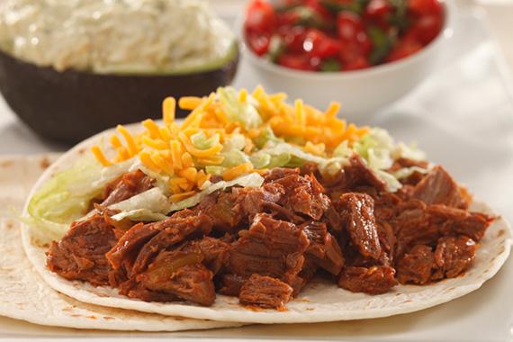 Beef Soft Tacos With Garlic Avocado Cream And Asparagus Salsa