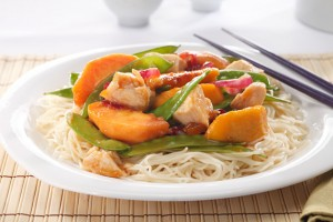 Oriental Chicken with Fruit Recipe