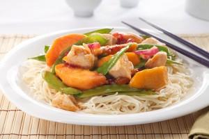 Oriental Chicken with Fruit Recipe