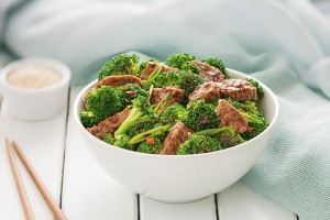 Sesame Beef & Broccoli Salad Recipe