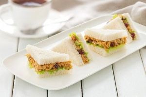Curry Chicken Tea Sandwiches Recipe