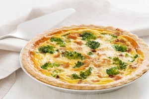 Lemon Pepper Chicken Quiche with Broccoli & Sun-Dried Tomatoes Recipe