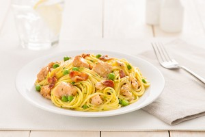Spaghetti Carbonara with Lemon Pepper Chicken Recipe