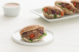 Beef & Pepper Stuffed Mini Pitas Recipe