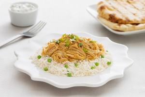 Curry Chicken with Raita & Naan Recipe