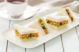 Curry Chicken Tea Sandwiches Recipe