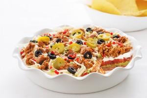Layered Mexican Dip with Fajita Chicken Recipe