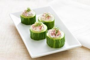 Fresh Ham & Dill Cucumber Cups Recipe