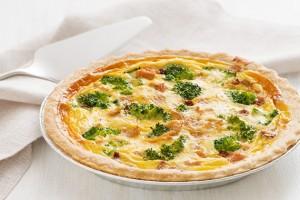 Lemon Pepper Chicken Quiche with Broccoli & Sun-Dried Tomatoes Recipe