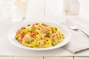 Spaghetti Carbonara with Lemon Pepper Chicken Recipe