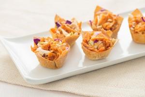 Sweet & Spicy Chicken Wonton Cups Recipe