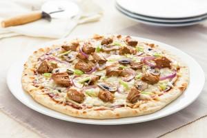 Teriyaki Chicken & Mushroom Pizza Recipe