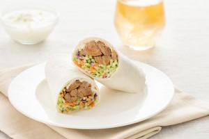 Teriyaki Chicken & Broccoli Slaw Wrap with Lime-Ginger Mayo Recipe